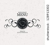 restaurant menu design | Shutterstock .eps vector #128913302