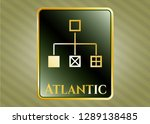 gold shiny badge with... | Shutterstock .eps vector #1289138485