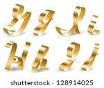 letters of english alphabet... | Shutterstock .eps vector #128914025