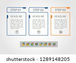 set of infographics elements....   Shutterstock .eps vector #1289148205