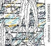 modern stripes jungle motif....   Shutterstock .eps vector #1289160082