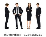 vector of young businessman and ... | Shutterstock .eps vector #1289168212