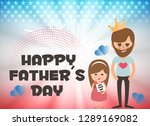 fathers day postcard or poster... | Shutterstock .eps vector #1289169082