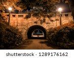 vintage stone bridge and tunnel ... | Shutterstock . vector #1289176162
