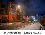 industrial winter street city... | Shutterstock . vector #1289176168