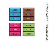 locker icon color variations... | Shutterstock .eps vector #1289179678