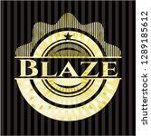 blaze golden emblem | Shutterstock .eps vector #1289185612