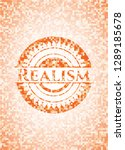 realism abstract orange mosaic... | Shutterstock .eps vector #1289185678
