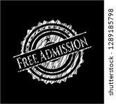 free admission chalkboard... | Shutterstock .eps vector #1289185798