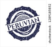 blue peruvian grunge seal | Shutterstock .eps vector #1289185852