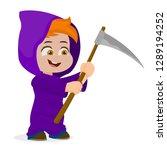 child with scythe | Shutterstock .eps vector #1289194252