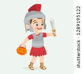 disguised as a roman gladiator | Shutterstock .eps vector #1289195122