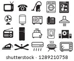 household electronic items icons | Shutterstock .eps vector #1289210758