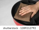 close up housewife hand... | Shutterstock . vector #1289212792