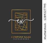 ex initial handwriting logo... | Shutterstock .eps vector #1289227795
