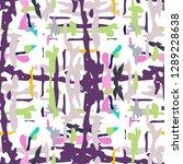 ikat batik print modern style ... | Shutterstock .eps vector #1289228638