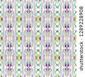 ikat batik print modern style ... | Shutterstock .eps vector #1289228908