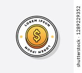 gold coin sticker badge with... | Shutterstock .eps vector #1289229352
