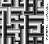 seamless pattern of broken lines | Shutterstock .eps vector #1289230072