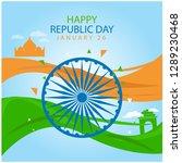 happy republic day | Shutterstock .eps vector #1289230468