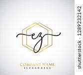 ez initial handwriting logo... | Shutterstock .eps vector #1289232142