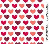 vector flat st.valentine s day... | Shutterstock .eps vector #1289233288