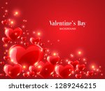 valentine's day background with ... | Shutterstock .eps vector #1289246215