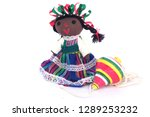 doll and spinning top  mexican... | Shutterstock . vector #1289253232