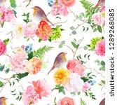 vector seamless watercolor... | Shutterstock .eps vector #1289268085