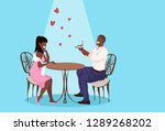 man holding engagement ring... | Shutterstock .eps vector #1289268202