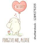 cute sad cartoon animal with...   Shutterstock .eps vector #1289275255