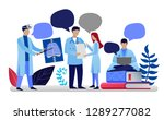 health care concept in flat... | Shutterstock .eps vector #1289277082
