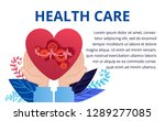 heart care concept in flat... | Shutterstock .eps vector #1289277085