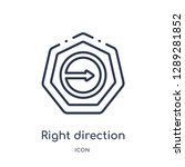 linear right direction icon... | Shutterstock .eps vector #1289281852
