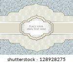 vintage frame. polka dot... | Shutterstock .eps vector #128928275