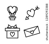 heart icon set isolated on... | Shutterstock .eps vector #1289292388