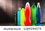 plastic bottles of assorted... | Shutterstock . vector #1289294575