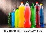 plastic bottles of assorted... | Shutterstock . vector #1289294578