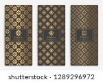 gold and black packaging design ... | Shutterstock .eps vector #1289296972