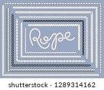 rope brush. marine ropes ... | Shutterstock .eps vector #1289314162