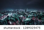 smart cityscape with wireless... | Shutterstock . vector #1289325475