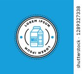 badge sticker design with milk...   Shutterstock .eps vector #1289327338