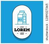 badge sticker design with milk...   Shutterstock .eps vector #1289327365