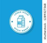 badge sticker design with milk...   Shutterstock .eps vector #1289327368