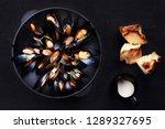 seafood  gourmet dinner ... | Shutterstock . vector #1289327695