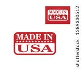 made in usa icons | Shutterstock .eps vector #1289330512
