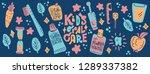 kids oral care vector set.... | Shutterstock .eps vector #1289337382