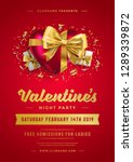 valentines day party flyer or... | Shutterstock .eps vector #1289339872