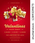 valentines day party flyer or...   Shutterstock .eps vector #1289339875