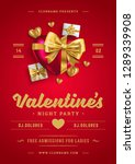 valentines day party flyer or... | Shutterstock .eps vector #1289339908